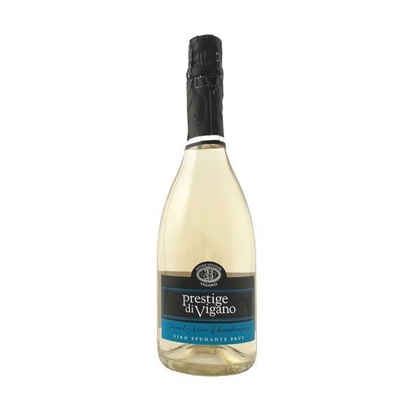 Bottiglia Vino Prestige Spumante Brut - Vini Vigano Colline Oltrepò Pavese