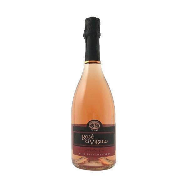 Bottiglia Rosè Spumante Brut Pinot Nero - Vini Vigano Colline Oltrepò Pavese